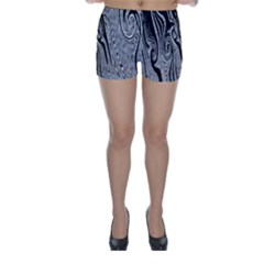 Abstract Swirling Pattern Background Wallpaper Skinny Shorts