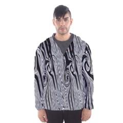 Abstract Swirling Pattern Background Wallpaper Hooded Wind Breaker (men)