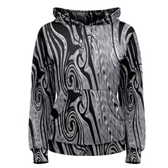 Abstract Swirling Pattern Background Wallpaper Women s Pullover Hoodie