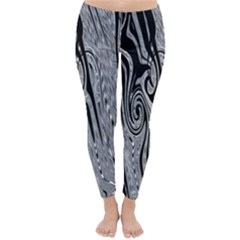 Abstract Swirling Pattern Background Wallpaper Classic Winter Leggings