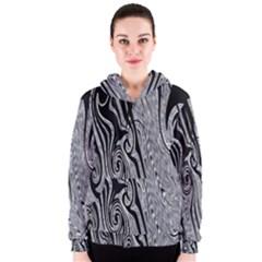 Abstract Swirling Pattern Background Wallpaper Women s Zipper Hoodie