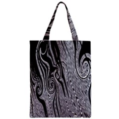 Abstract Swirling Pattern Background Wallpaper Zipper Classic Tote Bag