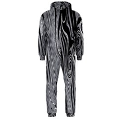 Abstract Swirling Pattern Background Wallpaper Hooded Jumpsuit (men)