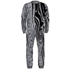 Abstract Swirling Pattern Background Wallpaper Onepiece Jumpsuit (men)