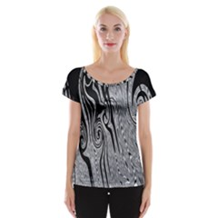 Abstract Swirling Pattern Background Wallpaper Women s Cap Sleeve Top