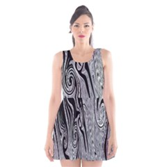 Abstract Swirling Pattern Background Wallpaper Scoop Neck Skater Dress