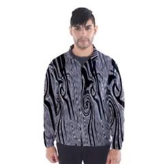 Abstract Swirling Pattern Background Wallpaper Wind Breaker (Men)