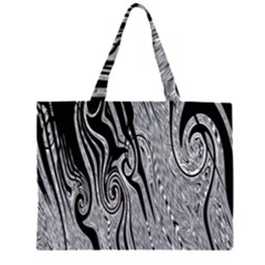 Abstract Swirling Pattern Background Wallpaper Large Tote Bag