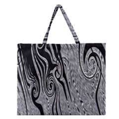 Abstract Swirling Pattern Background Wallpaper Zipper Large Tote Bag