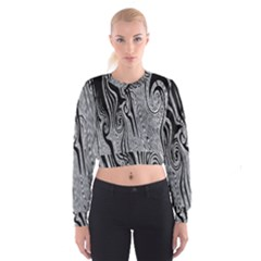 Abstract Swirling Pattern Background Wallpaper Cropped Sweatshirt