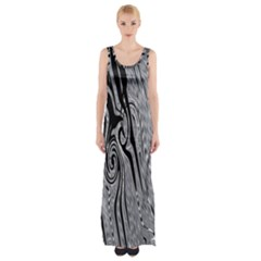 Abstract Swirling Pattern Background Wallpaper Maxi Thigh Split Dress