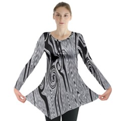 Abstract Swirling Pattern Background Wallpaper Long Sleeve Tunic