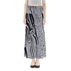 Abstract Swirling Pattern Background Wallpaper Maxi Skirts