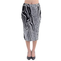 Abstract Swirling Pattern Background Wallpaper Midi Pencil Skirt