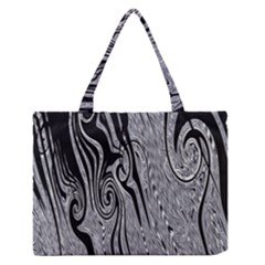 Abstract Swirling Pattern Background Wallpaper Medium Zipper Tote Bag