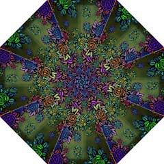 Grunge Rose Background Pattern Golf Umbrellas