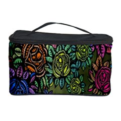 Grunge Rose Background Pattern Cosmetic Storage Case