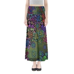 Grunge Rose Background Pattern Maxi Skirts