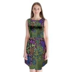 Grunge Rose Background Pattern Sleeveless Chiffon Dress