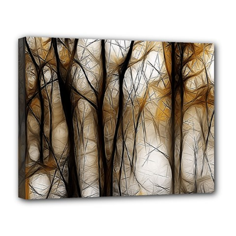 Fall Forest Artistic Background Canvas 14  X 11
