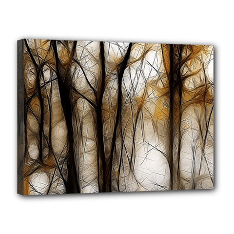 Fall Forest Artistic Background Canvas 16  x 12
