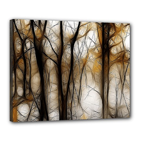 Fall Forest Artistic Background Canvas 20  X 16