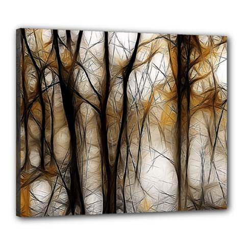 Fall Forest Artistic Background Canvas 24  X 20