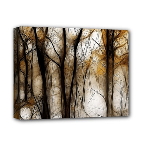 Fall Forest Artistic Background Deluxe Canvas 14  X 11