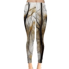 Fall Forest Artistic Background Leggings