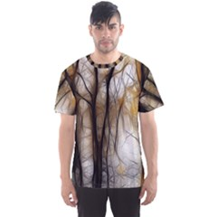 Fall Forest Artistic Background Men s Sport Mesh Tee