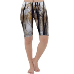 Fall Forest Artistic Background Cropped Leggings