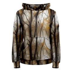 Fall Forest Artistic Background Women s Pullover Hoodie
