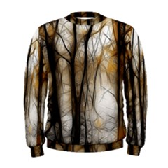 Fall Forest Artistic Background Men s Sweatshirt
