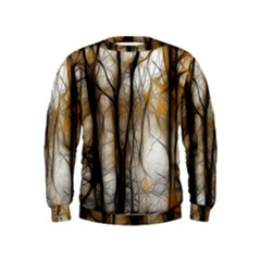 Fall Forest Artistic Background Kids  Sweatshirt