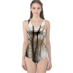 Fall Forest Artistic Background One Piece Swimsuit