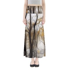 Fall Forest Artistic Background Maxi Skirts