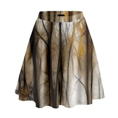 Fall Forest Artistic Background High Waist Skirt