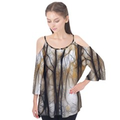 Fall Forest Artistic Background Flutter Tees