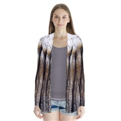 Fall Forest Artistic Background Cardigans