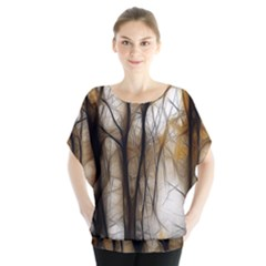 Fall Forest Artistic Background Blouse