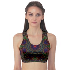 Rainbow Kaleidoscope Sports Bra