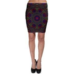 Rainbow Kaleidoscope Bodycon Skirt