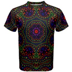 Rainbow Kaleidoscope Men s Cotton Tee