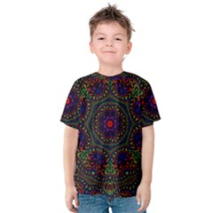 Rainbow Kaleidoscope Kids  Cotton Tee