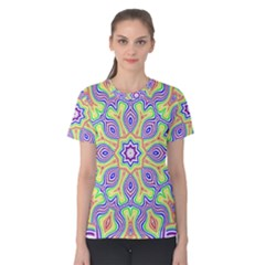 Rainbow Kaleidoscope Women s Cotton Tee