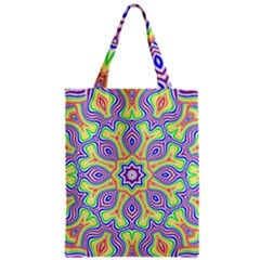 Rainbow Kaleidoscope Zipper Classic Tote Bag