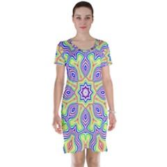 Rainbow Kaleidoscope Short Sleeve Nightdress