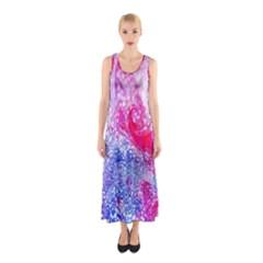 Glitter Pattern Background Sleeveless Maxi Dress