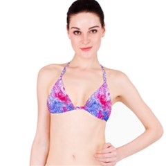 Glitter Pattern Background Bikini Top
