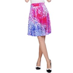 Glitter Pattern Background A Line Skirt